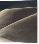 Windswept Dunes Wood Print