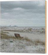 Windswept Lido Beach Florida Wood Print