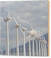 Windturbines Wood Print