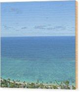 Windward Oahu Panorama II Wood Print