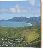 Windward Oahu Panorama IIi Wood Print