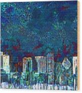 Windy Chicago Illinois Skyline Party Nights 20180516 Wood Print