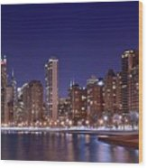 Windy City Lakefront Wood Print