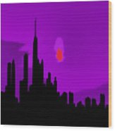 Windy City Sunset Wood Print