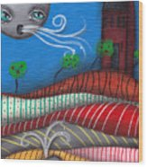 Windy Evening Wood Print