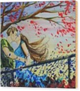 Windy Kiss Wood Print