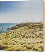 Windy Meadows Wood Print