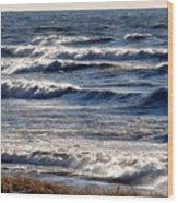 Windy Spring Lake Huron Wood Print