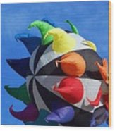 Windy Toy Wood Print
