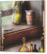 Wine - Care For A Nip Wood Print