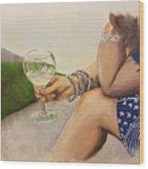 Wine And Bracelets Wood Print