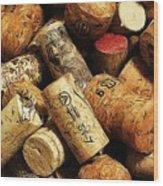 Wine And Champagme Corks Wood Print