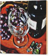 Wine And Dine Wood Print