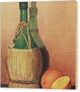 Wine And Oranges Wood Print