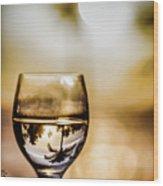 Wine And Sunset Wood Print