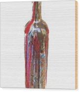 Wine Bottle One Wood Print