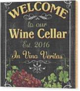 Wine Cellar Sign 1 Wood Print