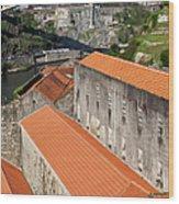 Wine Cellars In Vila Nova De Gaia By The Douro River Wood Print