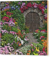 Wine Celler Gates  Wood Print