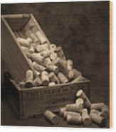 Wine Corks Still Life I Wood Print