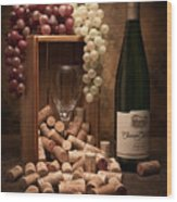 Wine Corks Still Life II Wood Print by Tom Mc Nemar