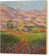 Wine Country II - Talley Vineyard Arroyo Grande Wood Print