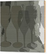 Wine Glass Abstract Wood Print