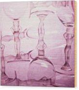 Wine Goddesses Wood Print