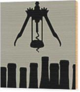 Wine Graphic Silhouette Wood Print