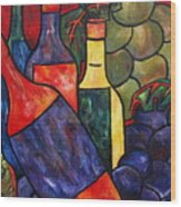 Wine In Color Wood Print
