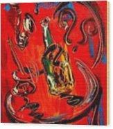 Wine Jazz Wood Print
