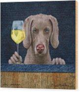Wine-maraner Wood Print