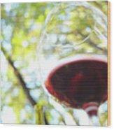 Wine On The Farm Wood Print