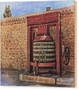 Wine Press Near Narbonne France Dsc01630 Wood Print