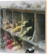 Wine Rack Mixed Media 01 Wood Print