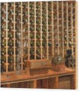 Wine Rack Vineyard Fermentation Wood Print