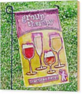 Wine Sign Wood Print