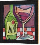 Wine Squared Wood Print