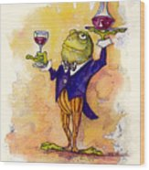 Wine Steward Toady Wood Print