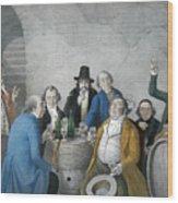 Wine Tasters In A Cellar Wood Print