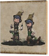 Wine Time For The Leprechauns  Wood Print