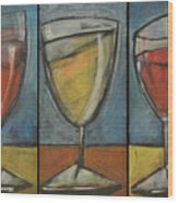 Wine Trio - Option One Wood Print by Tim Nyberg