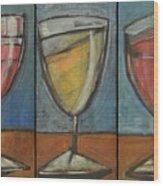 Wine Trio Option 2 Wood Print