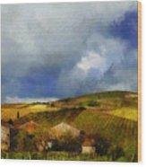 Wine Vineyard Wood Print