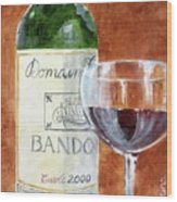 Wine With Dinner Wood Print