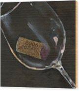 Wine With Dinner Wood Print by Sheryl Heatherly Hawkins