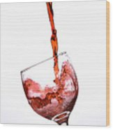 Wine3 Wood Print