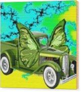 Wing Truck Wood Print