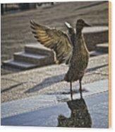 Winged Bird Wood Print
