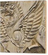 Winged Dragon Wood Print